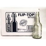 Clear Flip-Top Bottles, 1/2 Liter