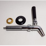 Intertap Forward Sealing Stainless Steel Beer Faucet Assembly with Shank