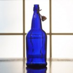Cobalt Blue Flip-Top Bottles, 1 Liter