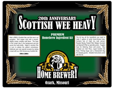 20th Anniversary Scottish Wee Heavy Ingredient Kit