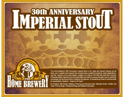 30th Anniversary Imperial Stout Ingredient Kit
