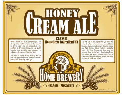 Honey Cream Ale Ingredient Kit