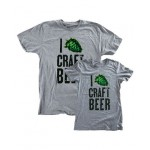 I 'Hop' Craft Beer T-Shirt, Heathered Grey