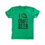 I 'Hop' Craft Beer T-Shirt, Green