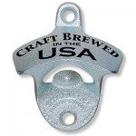"""Craft Brewed in the USA"" Wall Mount Bottle Opener"