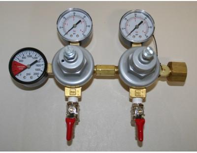 CO2 Twin Body Regulator