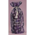 Embroidered Sheer Gift Bag ~ Blue