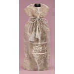 Embroidered Sheer Gift Bag ~ Silver