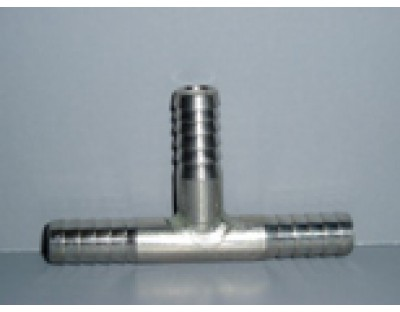 """T for CO2 Stainless 1/4"""""""