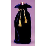 Velvet Wine Gift Bag ~ Blue