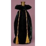 Velvet Wine Gift Bag ~ Green